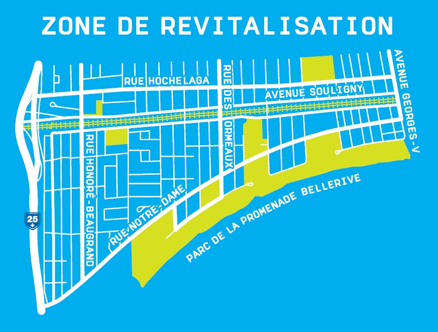 Carte de la zone RUI